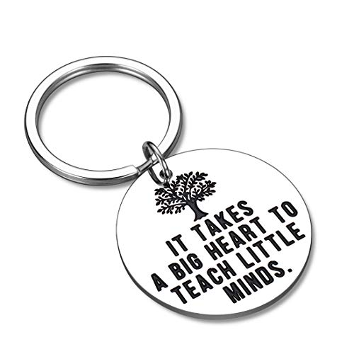 Teacher Appreciation Gifts Keychain for Women Men Teacher's Day Week Birthday Thank You Gift for Teachers Babysitter Assistant Her Him from Student Graduation Valentines Day Christmas Key Ring