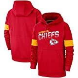 TTH-13 NFL Hoodie Kansas City Chiefs Rugby Maillot De Rugby Maillot Sweat-Shirt À Manches Longues Imprimé Confortable Sweat Casual Sweat Formation,S:160~165cm