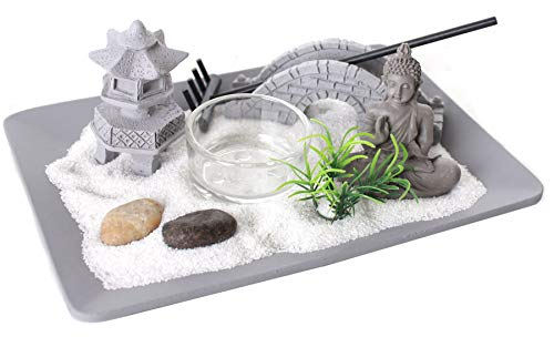 Carousel Home and Gifts Buddha Zen Garden Candle Holder ~ Novelty Tealight Candle Holder