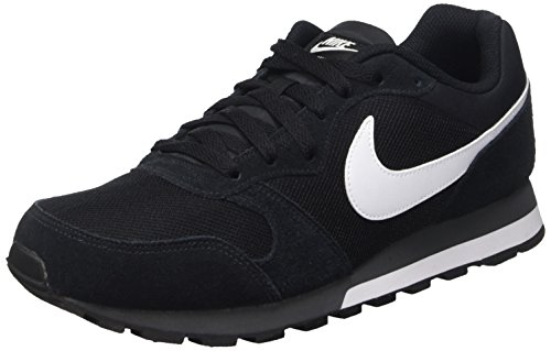 Nike MD Runner 2, Zapatillas de Running Hombre, Negro/Blanco/Gris (Black/White-Anthracite), 45 EU
