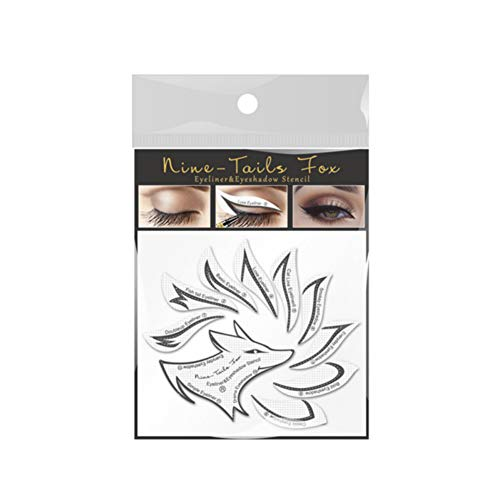 Allbestaye Lidschatten Schablone Aufkleber Eyeliner Make-up Tool Lazy Moulds Card Stencil Non-woven
