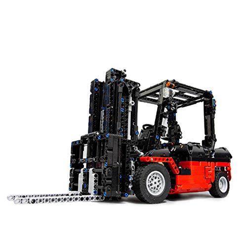 YDYL-LI 1719 PCS Technic Grupo De Camión Mecánico Conjunto Stacker Carretilla Elevadora Bloque RC Car Kit, MOC-3681 Model Building Blocks Compatible con Lego, Ladrillos del Juguete,Static Version