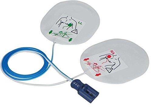 F7950 Par de almohadillas para desfibrilador desechables compatibles con Philips Laerdal Medical y Agilent Philips - para adultos
