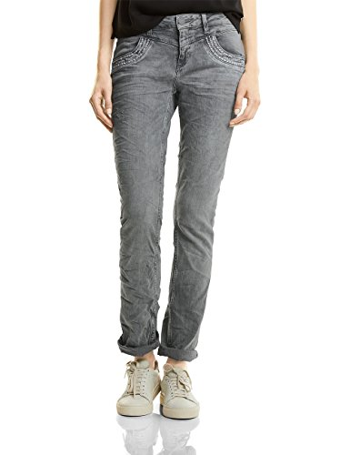 Street One Damen Denim-Kate Straight Jeans, Grey Heavy Bleached Fancy wash, 40W / 30L (Herstellergröße: 32)