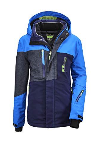 Killtec Jungen Glenshee BYS Ski Jckt A Funktionsjacke Mit Kapuze Und Schneefang, neon Blue, 176