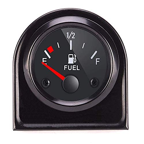 """ATFWEL Fuel Level Gauge,2"""" 52mm E-1/2-F Pointer Universal Fuel Tank Meter with LED Backlight for Car RV Yacht Boat Motorcycle"""