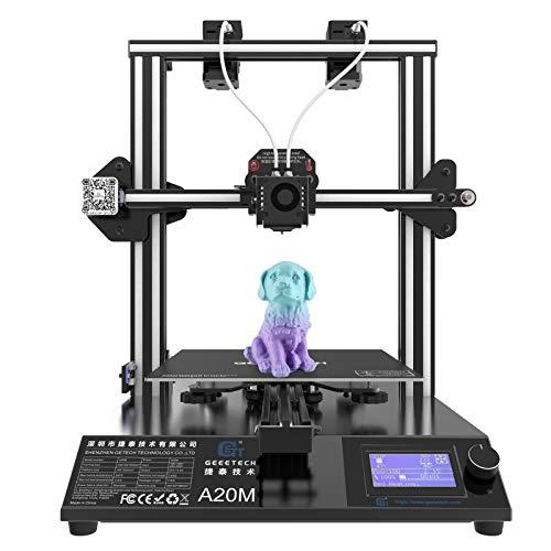 GIANTARM Geeetech A20M Tiene función de impresión en Color, Impresora 3D Tiene un diseño de extrusora Dual y función de recuperación de Cable Roto, 255 x 255 x 255 mm