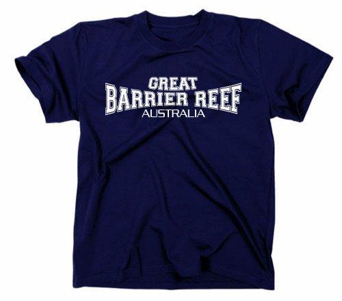 Gildan Great Barrier Reef Australia T-Shirt Bleu Marine XL