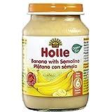 Tarrito BIO de platano y semola de trigo +6 meses Holle, 190 g