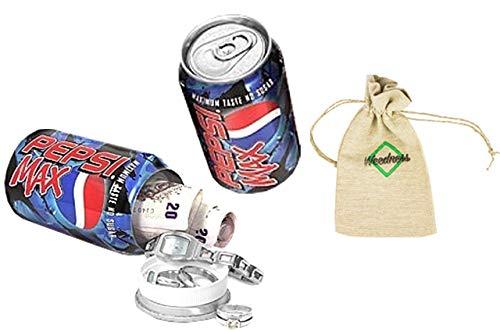 Pepsi puede Escondite seguro de dinero - escondite seguro de latas escondite secreto escondite seguro mini caja fuerte de playa