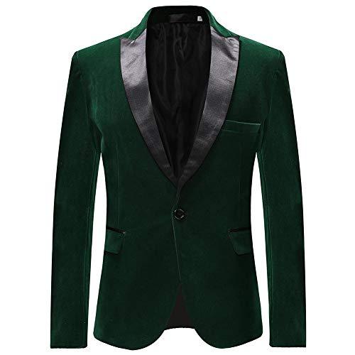 Heren pakken Blazer Slim Fit Velvet één knop pak Tuxedo jas