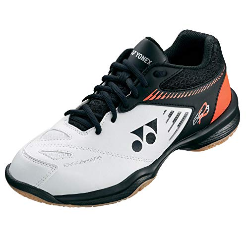 YONEX Power Cushion 65 R3 Herren Badmintonschuhe, weiß/orange, 43