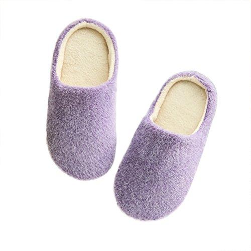LUOEM Zapatillas de Estar por Casa Mujer Invierno Pantuflas Zapatillas Peluche Algodón...
