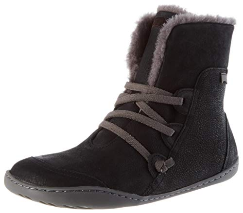 Camper Womens Peu Cami Ankle Boot, Black, 39 EU