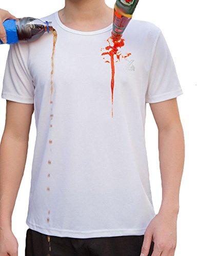Amitafo Uomini e Donne Manica Corta Traspirante e antisudore Impermeabile ad Asciugatura Rapida T-Shirt (46 EU=Fabbricante S)
