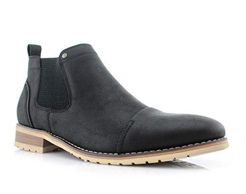 Ferro Aldo Sterling MFA606325 Mens Casual Chelsea Slip on Ankle Boots – Black Size 13