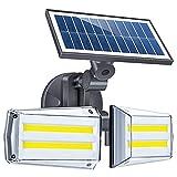 Solar Wall Light Microonde Formo del corpo umano a induzione doppia testa girevole cortile per la casa impermeabile Solar Street Light SKYJIE (Color : 80 COB)