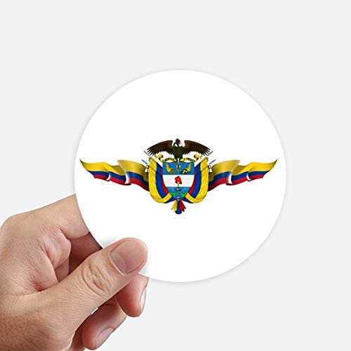 DIYthinker América Colombia Bandera Nacional Emblema Redondas 10cm Pared Maleta portátil Motobike Decal 8pcs Diámetro 10cm