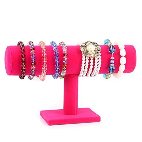 Hivory Single T-Bar Bracelet Holder for Jewlery ~ Bracelets, Watches, Bangles Holder ~ Jewelry Organizer Display Stand (Rose)