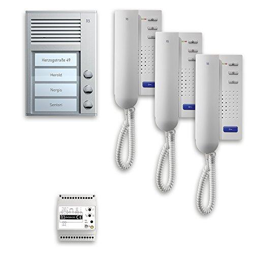 TCS PPA03-EN/02 pre:Pack 3Tasten AP, 230 V, Weiß