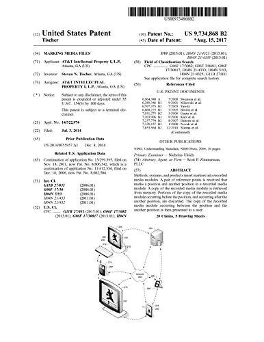 Marking media files: United States Patent 9734868 (English Edition)