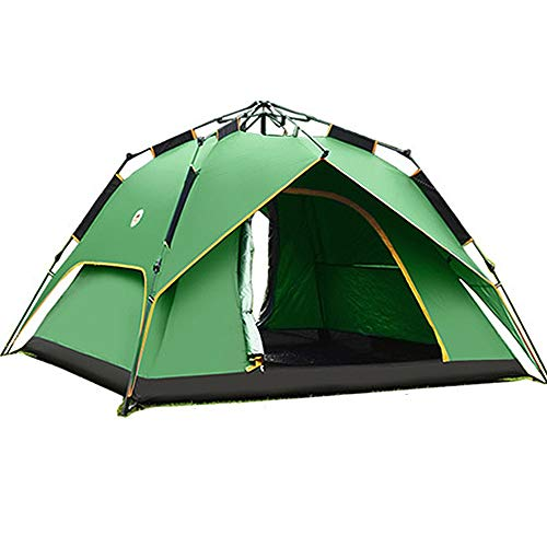 JOMSK Automatic Portable Backpacking Tent for Outdoor Indoor Family Camping Backpacking Picnic Beach Waterproof Tent Portable Tent (Color : Green, Size : One Size)