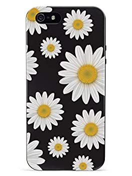Inspired Cases - 3D Textured iPhone 5/5s/5SE Case - Rubber Bumper Cover - Protective Phone Case for Apple iPhone 5/5s/5SE - Daisy Pattern