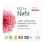 Eco By Naty, Assorbenti Interni digitale, Super Plus, 15 assorbenti interni. Realizzati con fibre vegetali e vegani. 0% di plastica.
