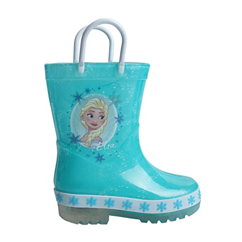 Character - Stivali luminosi da pioggia per bambini, Blu (Disney Frozen), 27 EU