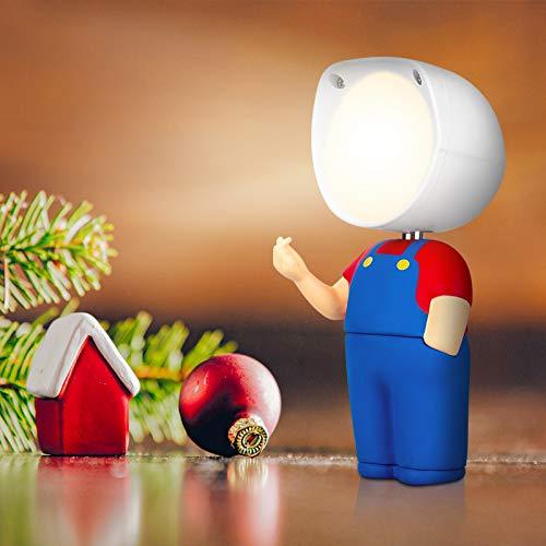 ALUOCYI LED Nachtlicht Kinder, Nachttischlampe Junge USB Wiederaufladbare, Touch Control, Dimmbar, Nachttischleuchte für Kinderzimmer, Schlafzimmer, Geschenke für Jungen und Mädchen, Studenten, Rot