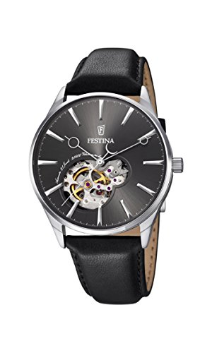 Festina Herren Analog Automatik Uhr mit Leder Armband F6846/2
