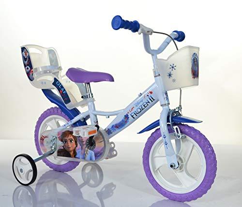 FROZEN ORIGINAL 12 inch KIDSBIKE girl child bike childrenbike bicycle toybike lightblue Dollycarrier frontbasket training wheels