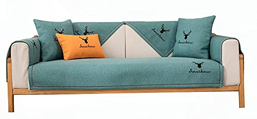 CC.Stars Furniture Protector, Quilted Sectional Couch Covers, L Shape Sofa Cover Sectional Couch for Armchair/loveseat/Cushion Sofas/Chaise Lounge-Green 1_35 * 62in