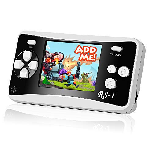 Mademax RS-1 Handheld Game Console, Classic Retro Game Player with 2.5' 8-Bit LCD Portable Video Games, Built-in 152 Old School Games Entertainment, Birthday Presents for Children - Black