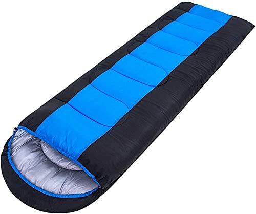 JoHUAZ Solo Saco de Dormir for Adultos, Clima frío Que engrose el Saco de Dormir del algodón for el Viaje de Camping al Aire Libre Interior Mochilero (Color: Azul Claro) (Color : Blue)