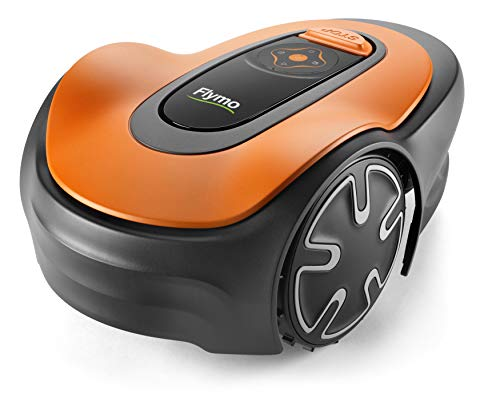 Flymo EasiLife 150 GO Robotic Lawn Mower - Cuts Up to 150 sq m, Ultra Quiet Mowing, Manicured Lawn, Bluetooth Application Control, Safety Sensors, Hose Washable, Lifestyle Functions
