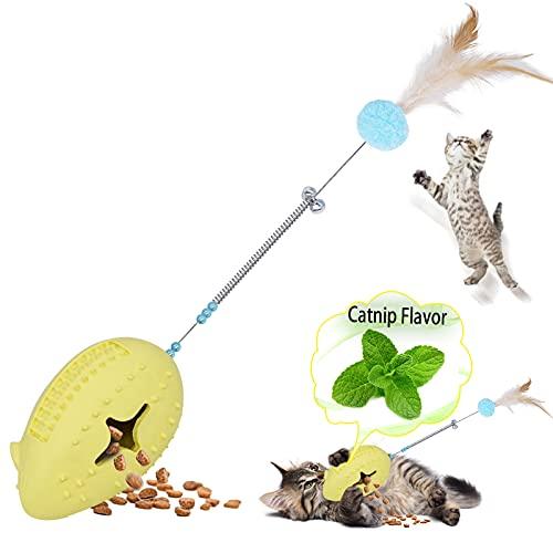 Petdexon Interactive Cat Toys, Pro 6 in 1 Catnip Toys for...
