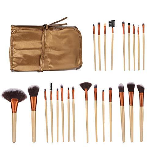 Zwindy Ensemble de pinceaux de Maquillage, Brosse de Fibre Artificielle 24pcs, brosses de Maquillage pour Le Visage Doux pour Les Cheveux, Brosse cosmétique avec Sac de Brosse en PU