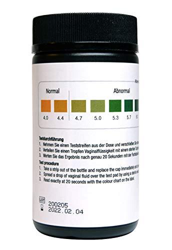 Kosmetex Teststreifen pH-Messung 4-7 zur Überwachung des Säuregehaltes im weiblichen Vaginalbereich von Vaginalsekret