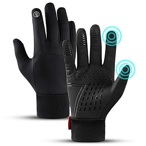 LFES Guantes térmicos de invierno resistentes al viento, impermeables, guantes de pantalla táctil, manoplas antideslizantes para hombres y mujeres, ciclismo al aire libre, caza, escalada