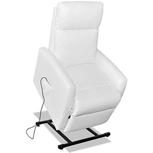 Festnight Fernsehsessel Aufstehsessel TV Sessel mit elektrischer Aufstehhilfe Weiß