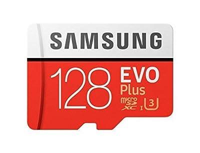 Samsung mb-mc128ga/EU EVO Plus Tarjeta microSD de 128GB, UHS-I, Clase U3, hasta 100MB/s de Lectura, 90MB/s de Escritura, Adaptador SD Incluido