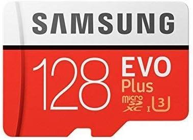 Samsung MB-MC128GA/EU EVO Plus microSD-Karte 128 GB, UHS-I, Class U3, bis 100 MB/s Lesegeschwindigkeit, 90 MB/s Schreiben + SD-Adapter product image