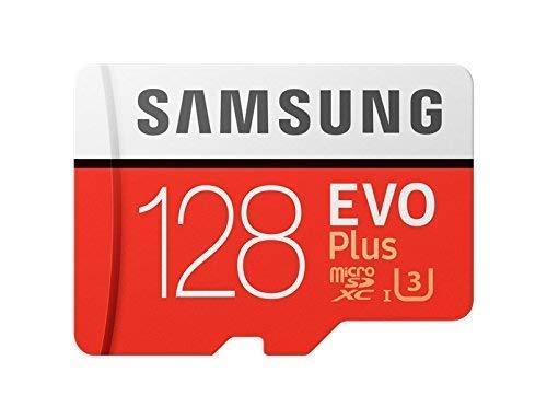Samsung Evo Plus - MC128GA - Carte Micro SD de 128Go, Lasse UHS-I, Classe U3, jusqu'à 100Mo/s de Lecture, 90Mo/s de Vitesse d'écriture, Adaptateur de Fente SD Inclus