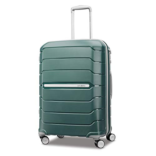 Samsonite Freeform Hardside Expandable with Double Spinner Wheels, Sage Green, Checked-Medium 24-Inch
