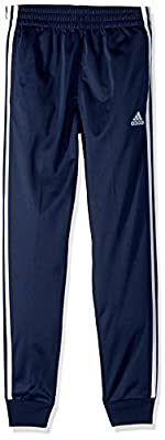 adidas Boys' Big Tricot Jogger Pant, Iconic Collegiate Navy, S (8)