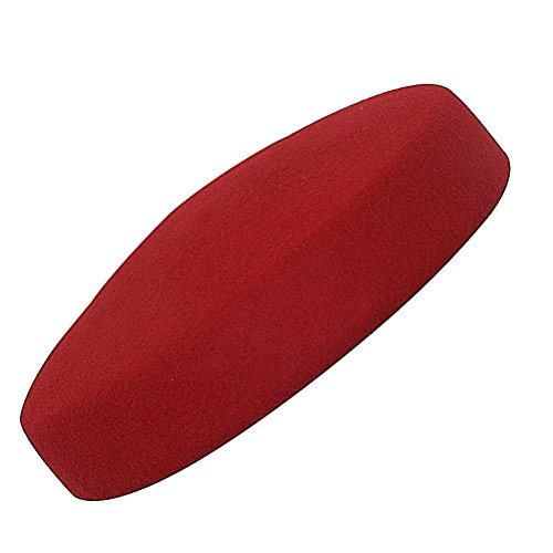 Circle Wool Felt Pillbox Beret Hat Millinery Fascinator Base Cocktail Party A215 (Red)