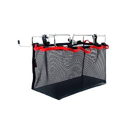Generic Brands Sac à Dos Pique-Nique Hamper Objets de Stockage Mesh Sac Sac de Rangement Net de Pique-Nique Camping Cuisine Table Pliante Suspendue Net (S M L) (Couleur : 33x16x20cm)