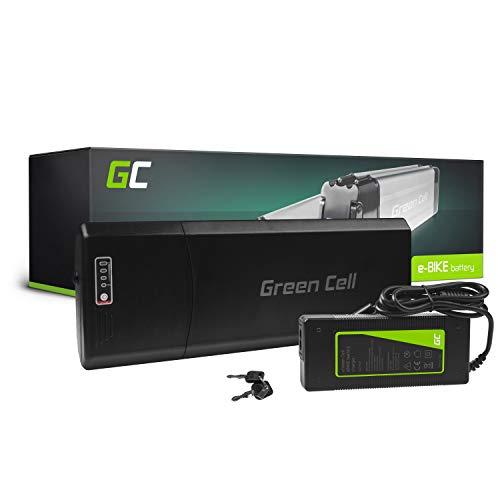 Green Cell PRO GC® E-Bike Akku 36V 12Ah Li-Ion Pedelec Rear Rack Batterie mit Ladegerät für Cyco Frisbee Bikes Kreidler McKenzie MiFa Prophete Rex Trio Zündapp