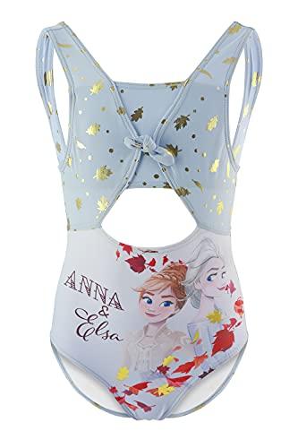 Frozen Movie Disney - Bambina - Costume Intero 1 Pezzo Mare Piscina - Prodotto Originale con Licenza Ufficiale [1861 Azzurro - 4 Anni]